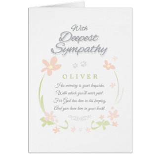 Pet Sympathy Card - Male - Deepest Sympathy