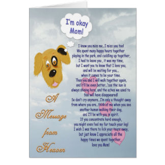Pet Sympathy/Dog~female owner Greeting Card