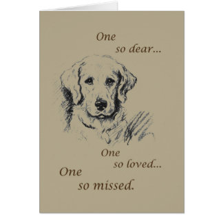 Pet Sympathy, Dog Sketch Card