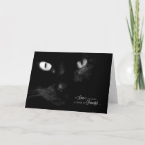 Pet Sympathy for Loss of a Cat - Black Cat Card