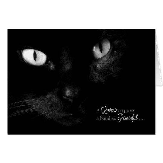 Pet Sympathy for Loss of a Cat - Black Cat Card