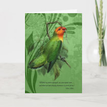 Pet Sympathy Loss of a Bird Lovebird Card