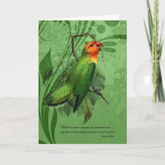 pet sympathy loss of a bird lovebird card zazzle com