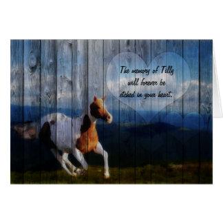 Pet Sympathy Loss of a Horse Card