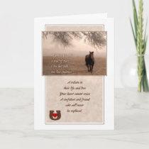 Pet Sympathy Loss of a Horse Sepia Hues Card