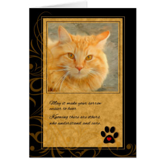 Pet Sympathy Loss of Cat - Orange Tabby Card