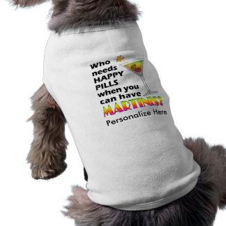 Pet T-shirt - Martinis v. Happy Pills