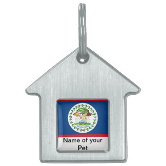 Pet Tag with Flag of Belize