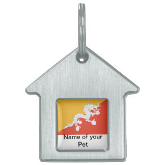 Pet Tag with Flag of Bhutan