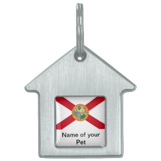 Pet Tag with Flag of Florida State