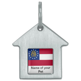 Pet Tag with Flag of Georgia State