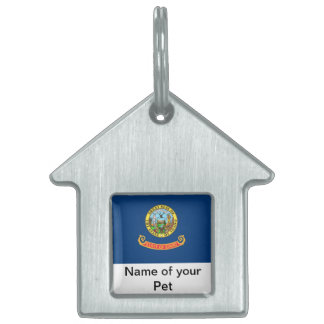 Pet Tag with Flag of Idaho State