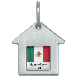 Pet Tag with Flag of Mexico