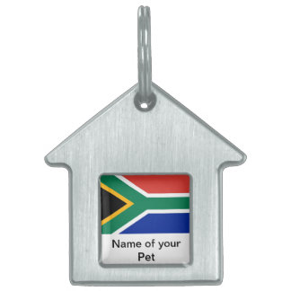 Pet Tag with Flag of South Africa