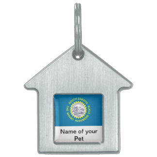 Pet Tag with Flag of South Dakota State