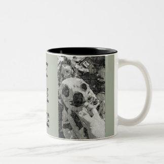 PET THE DOG Two-Tone COFFEE MUG