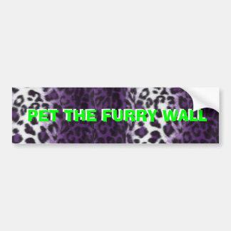 PET THE FURRY WALL BUMPER STICKER