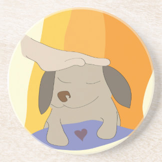Pet the Pup Dog - Paw of Attraction Drink Coaster