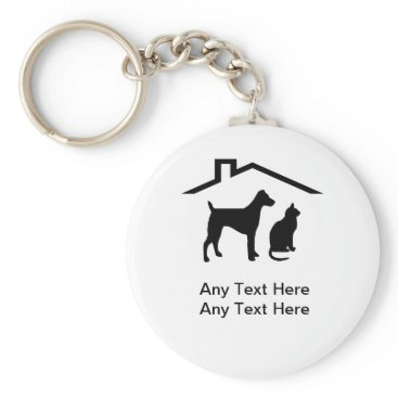 Pet Theme Business Keychains