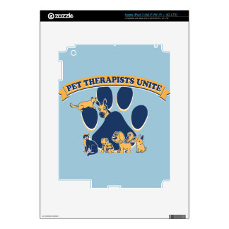 Pet Therapists Unite logo promoting all pets iPad 3 Decal