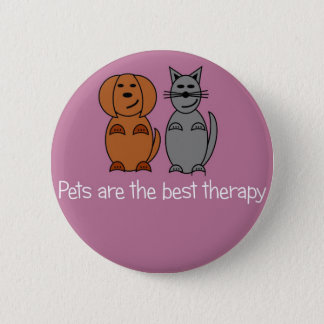 Pet Therapy Badge Button
