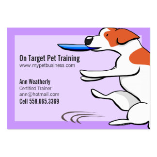 Pet Training Dog Trainer Jack Russell Terrier Large Business Cards (Pack Of 100)