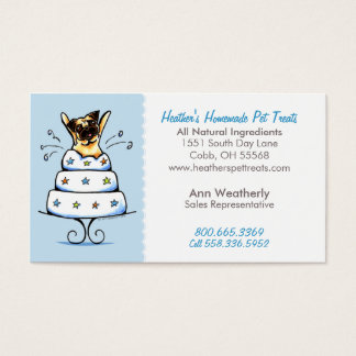 Pet Treats Bakery n Parties Pug Baby Blue Business Card