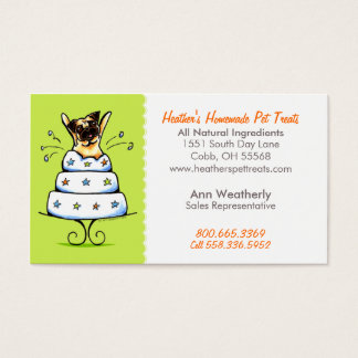 Pet Treats Bakery n Parties Pug Lime Citrus Business Card