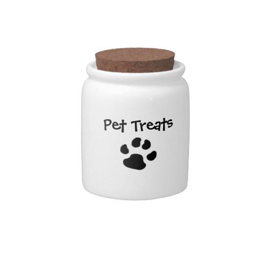 Pet Treats Jar Candy Dish