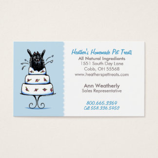 Pet Treats Specialty Bakery Pomeranian Baby Blue Business Card