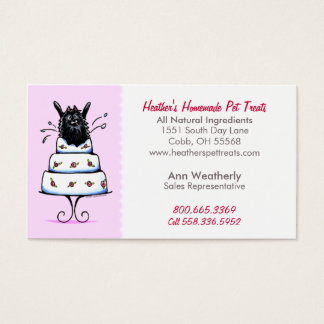 Pet Treats Specialty Bakery Pomeranian Baby Pink Business Card