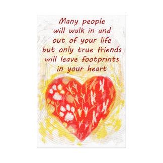 Pet true friend quote canvas print