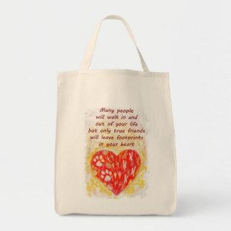 Pet true friend quote tote bag