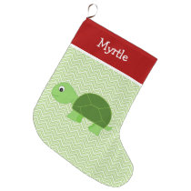 Pet Turtle Personalized Large Christmas Stocking