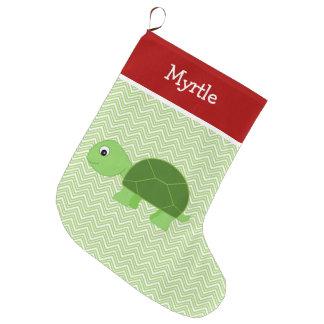 Pet Turtle Personalized Large Christmas Stocking