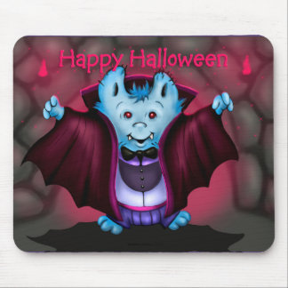 PET VAMPY HALLOWEEN BAT CARTOON MOUSE PAD