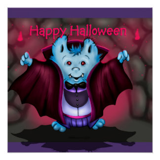 PET VAMPY HALLOWEEN PERFECT POSTER
