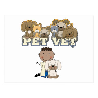 Pet Vet African American Male Tshirts and Gifts Postcard