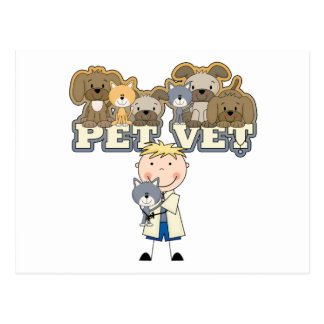 Pet Vet Blond Male T-shirts and Gifts Postcard