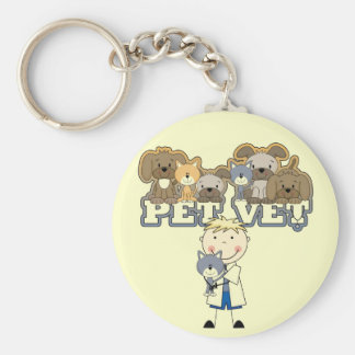 Pet Vet Blond Male Tshirts and Gifts Keychains