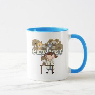 Pet Vet Brunette Female Tshirts and Gifts Mug
