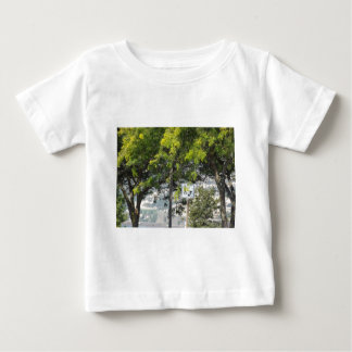 Pet Walk with Trees Baby T-Shirt