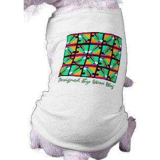 PET-WARE CLOTHING BY VERA WAG ABSTRACT - 8 BALL PET TSHIRT