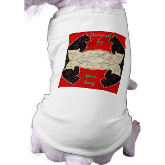 PET-WARE CLOTHING BY VERA WAG ABSTRACT - CATS DOGGIE TSHIRT