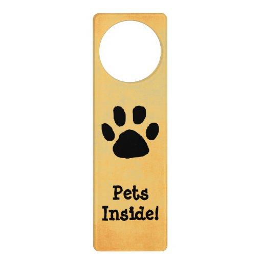 Pet Warning Door Sign Knob Hangers Zazzle