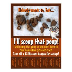 Pet Waste Removal.Pooper Scooper.Custom promo Personalized Flyer