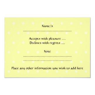 Pet White Mouse. Yellow Polka Dot Background. Card