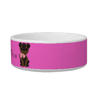 Pet YORKIE Terrier Dog water bowl or Food Dish