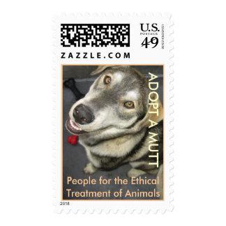 PETA Adopt a Mutt Stamp