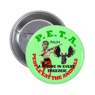 PETA, gray circle, young gun white... - Customized Button